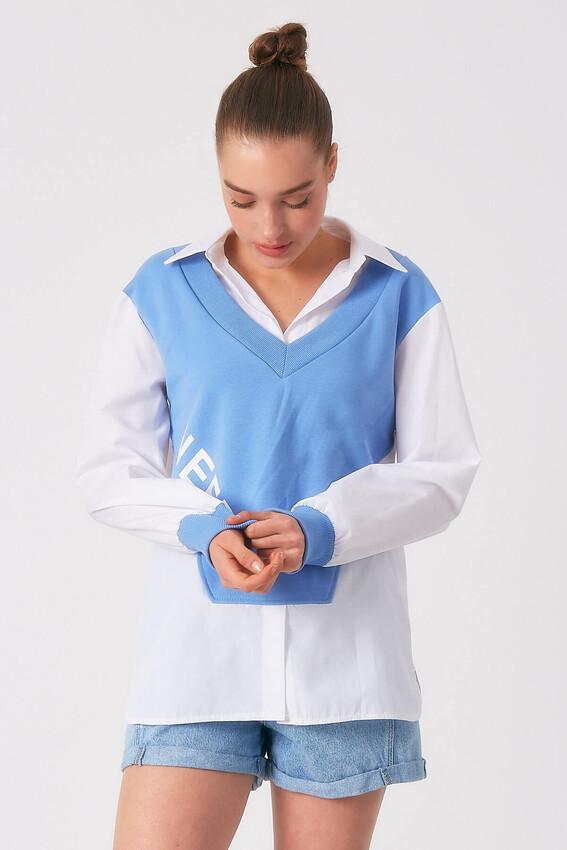 - Robin Penye Detaylı Gömlek MAVİ