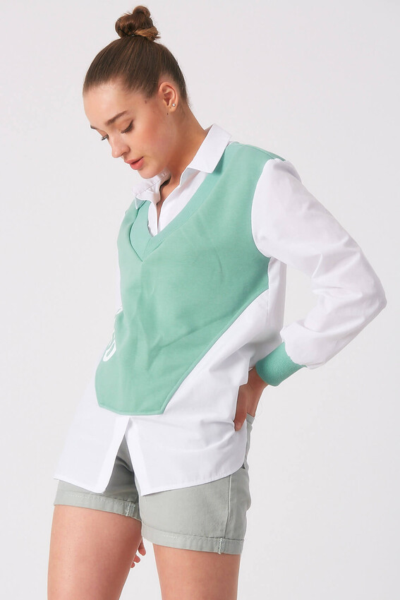 - Robin Penye Detaylı Gömlek MİNT